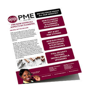 PME Brochure - Electrical installations Port Moresby, PNG