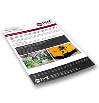 Generator sales and service Brochure - PME