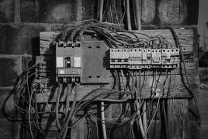 old switchboard - Electrical installations Port Moresby, PNG